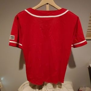 PINK Victoria's Secret Tops - NWT Victoria Secret PINK Wisconsin baseball Jersey